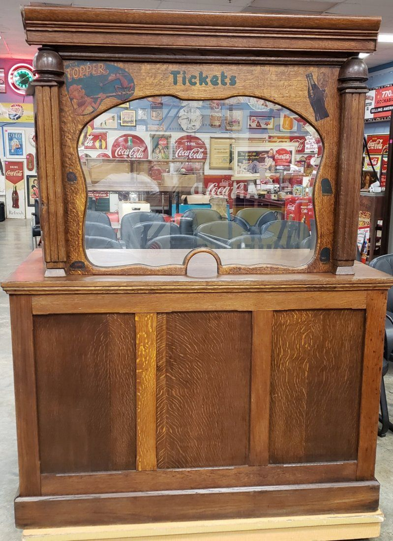 Antique Movie Theater Ticket Booth