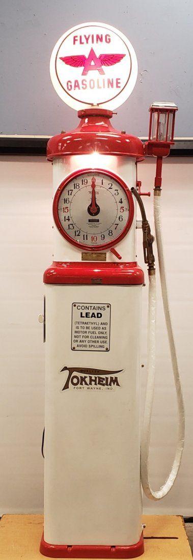 Tokheim 850 Gas Pump with Square Base & Original Globe