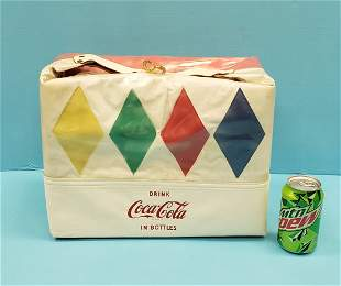 1950's Coca Cola Vinyl Cooler Bag Diamond Design