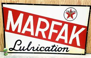 1957 Texaco Marfak Lubrication Metal Sign