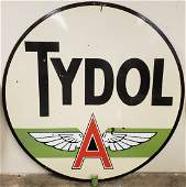 6ft Tydol Flying A Double Sided Porcelain Sign Green
