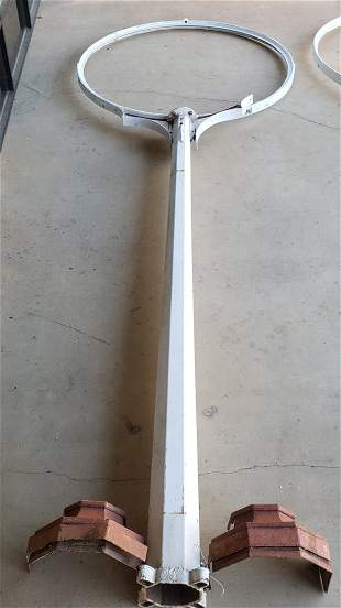 18ft Gas Station Sign Pole w/ Ring for 6ft Porcelain