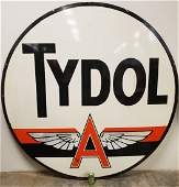 6ft Tydol Flying A Double Sided Porcelain Sign