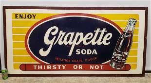 RARE Large 6ft x 3ft Enjoy Grapette Soda Masonite Sign