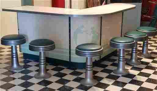 Porcelain Kid's Ice Cream Store Soda Fountain Counter