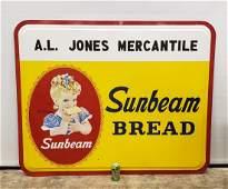 Large Sunbeam Bread Self Framed Tin Sign