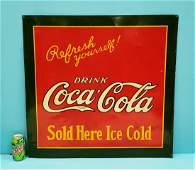 1927 Drink Coca Cola Refresh Youself Tin Sign