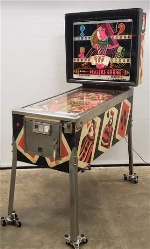 1974 Williams Dealers Choice Pinball Machine