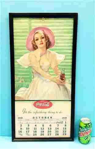 1938 Coca Cola Pin-up Girl Calendar