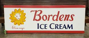 Bordens Ice Cream Painted Metal sign