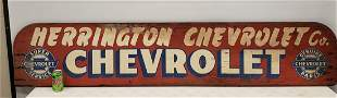 Vintage Super Chevrolet Service Painted Wood Sign