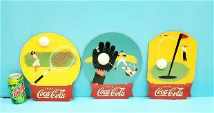 3 Kay Displays Coca Cola Wood Sports Signs