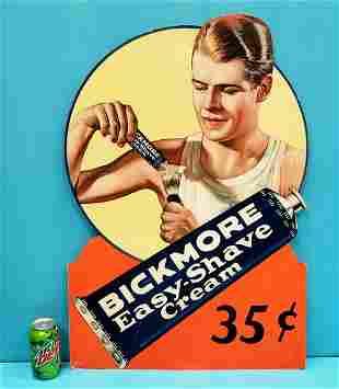 Bickmore Easy Shave Cream Cardboard Sign