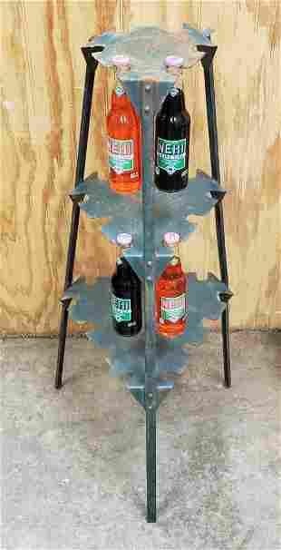 RARE 1933 Nehi Country Store Bottle Rack Display Stand