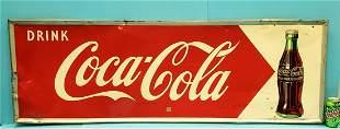 Drink Coca Cola Self Framed tin sign