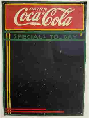 Drink Coca Cola Specials Today Menu Board