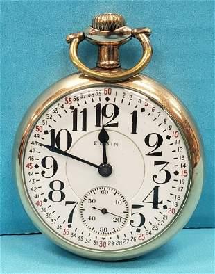 Elgin 21 jewel Veritas Montgomery Dial Pocket Watch