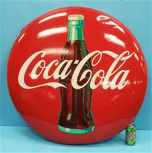 """36"""" Coca Cola button with bottle"""