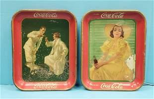 1926 & 1938 Coca Cola Trays