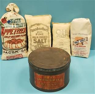 Country Store Lot - Snow Drift Tin & Flour & Sugar Bags