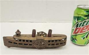Cast Iron Steam Boat Bank A. C. Williams