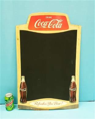 Coca Cola Cardboard Menu Board Sign