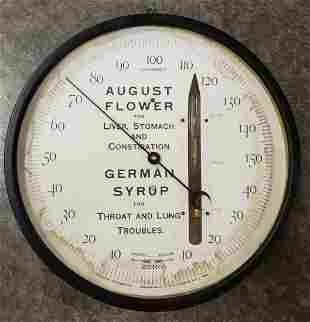 August Flower Round Thermometer