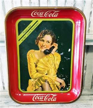 1930 Coca Cola tray - Meet me at the soda fountain