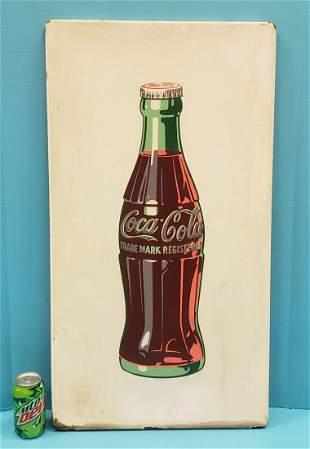 Coca Cola White Porcelain Bottle Sign