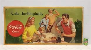 Coca Cola Cardboard Sign - Coke ..for Hospitality