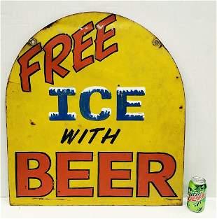 Repainted Quaker State Motor Oil Sign / Ice Beer