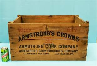 Armstrong's Crowns Wood Shipping Crate for Coca Cola