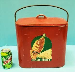 Scarce Coca Cola Superior Jr. Picnic Cooler