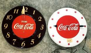 2 Coca Cola Electric Clocks