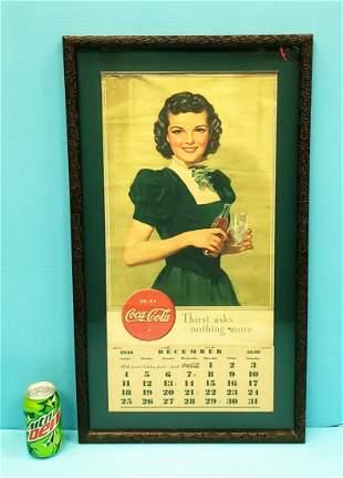 1939 Coca Cola Pin-up Girl Calendar