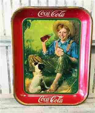 1931 Barefoot Boy Coca Cola Tray