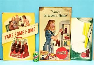 Coca Cola Cardboard Advertising lot