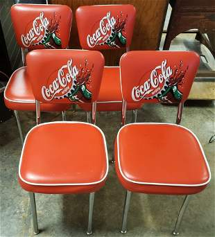 Set of 4 Coca Cola Diner Chairs
