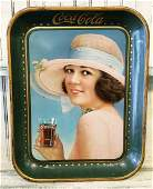 1921 Coca Cola Tray with Pin-up Girl