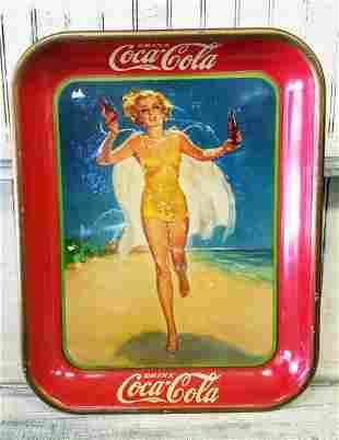 1937 Coca Cola Pin up Girl Tray