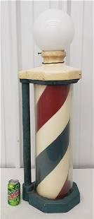 Antique porcelain barber pole