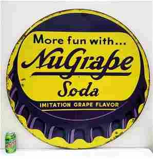 NuGrape Soda bottle cap sign