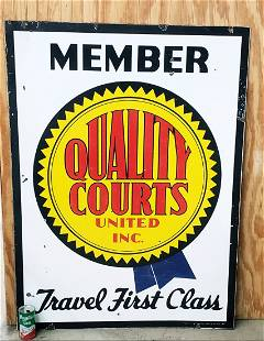 Member Quality Courts double sided porcelain sign