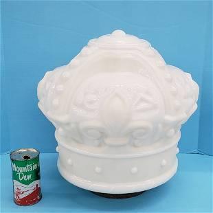 White Crown Gas Pump Globe
