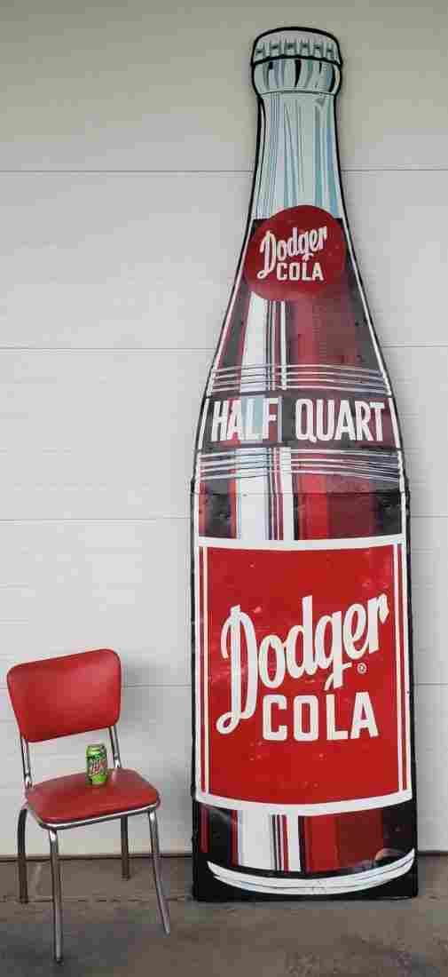 Huge Rare Dodger Cola bottling plant sign