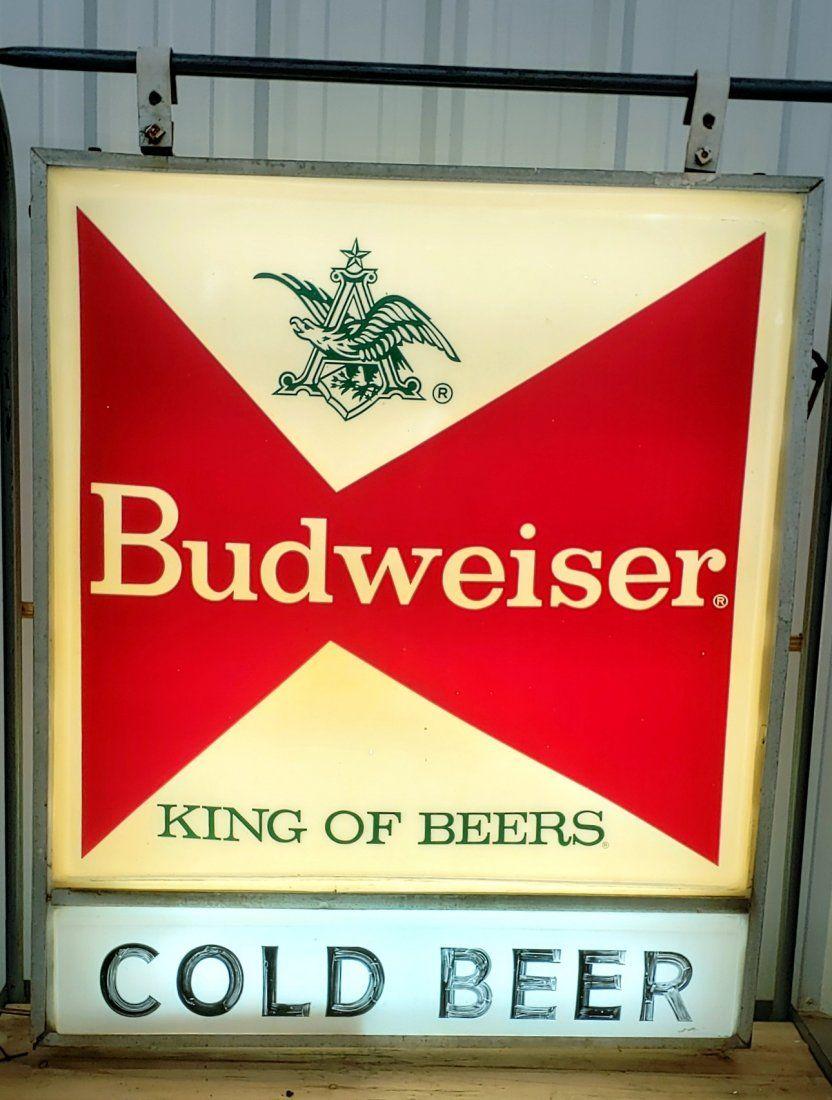 Original Budweiser 2 sided light up sign