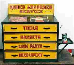 Scarce Delco-Lovejoy Shock Absorber Service Cabinet