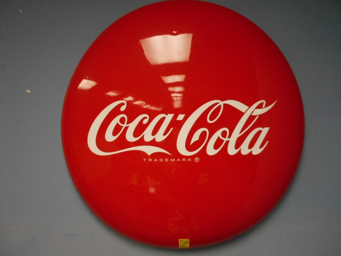 "Vintage 36"" Coca Cola Button Restored"