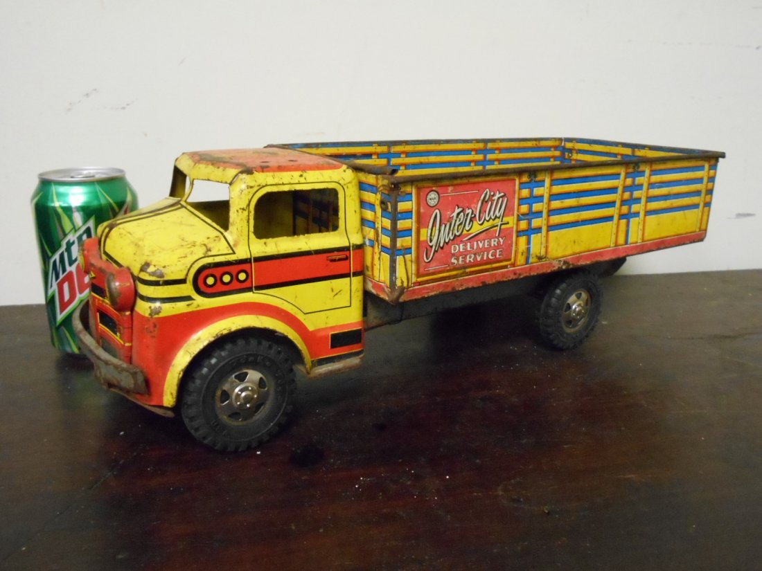 1950's Marx Tin Litho Inter City Delivery Truck