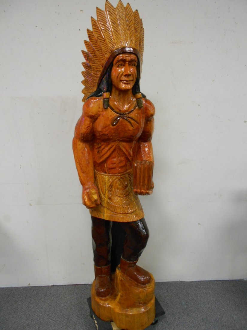 Wooden Cigar Store Indian